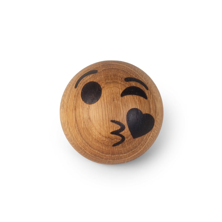 Spring Emotions Wooden emoticon from Spring Copenhagen in the variant kiss