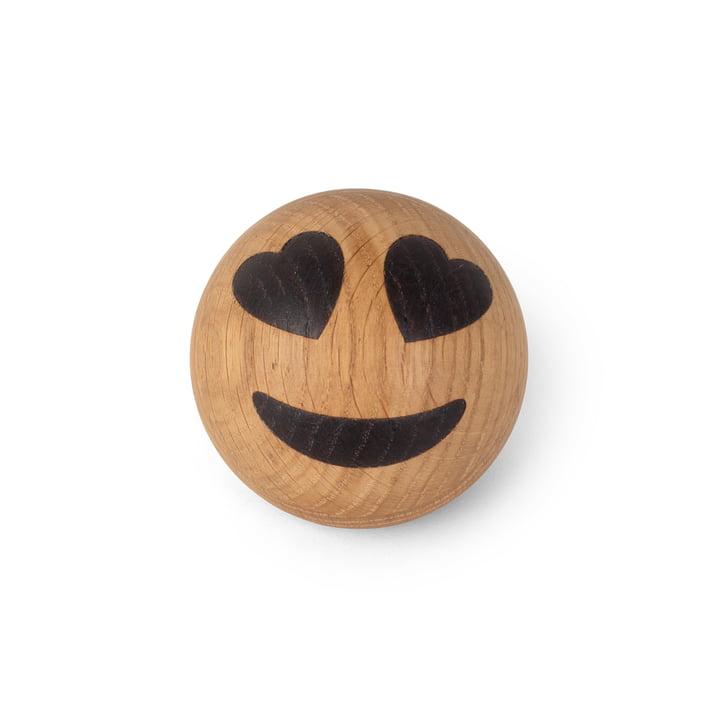 Spring Emotions Wooden emoticon from Spring Copenhagen in the variant heart eyes