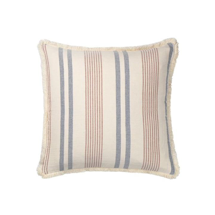 Iris Pillowcase 50 x 50 cm from Elvang in blue / rustic red