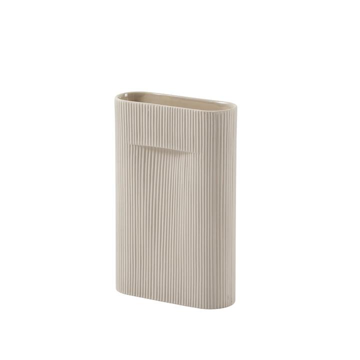 Ridge Vase H 35 cm from Muuto in beige