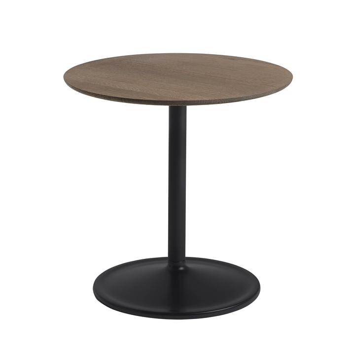 Soft Side table Ø 48 cm, H 48 cm from Muuto in smoked oak / black