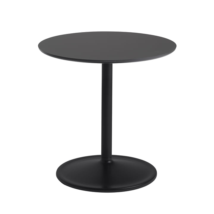 Soft Side table Ø 48 cm, H 48 cm from Muuto in black