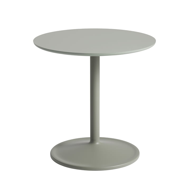 Soft Side table Ø 48 cm, H 48 cm from Muuto in dusty green
