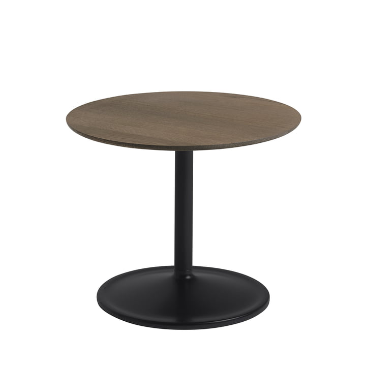 Soft Side table Ø 48 cm, H 40 cm from Muuto in smoked oak / black