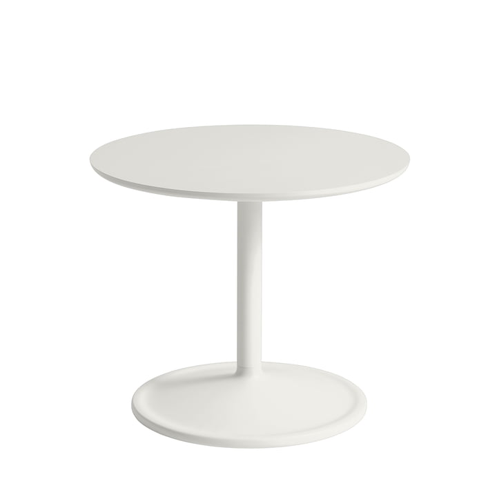 Soft Side table Ø 48 cm, H 40 cm from Muuto in off-white