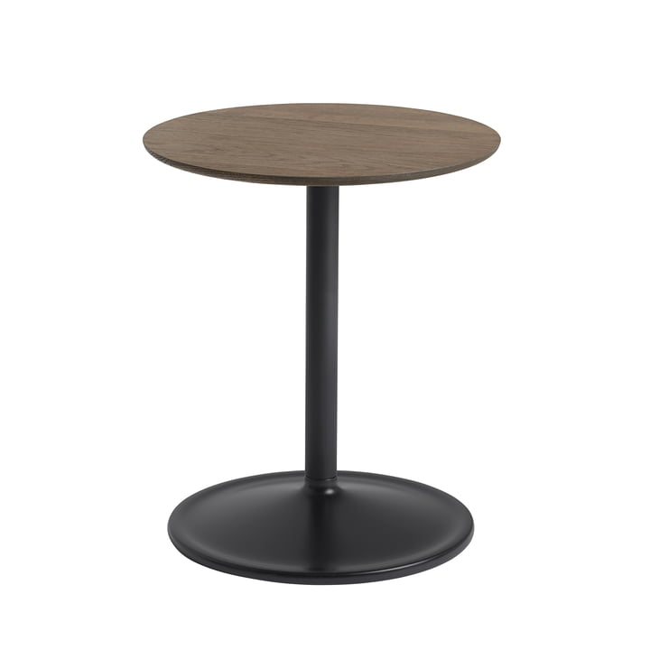 Soft Side table Ø 41 cm, H 48 cm from Muuto in smoked oak / black