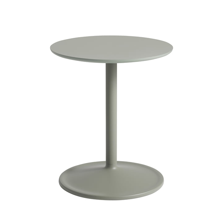 Soft Side table Ø 41 cm, H 48 cm from Muuto in dusty green