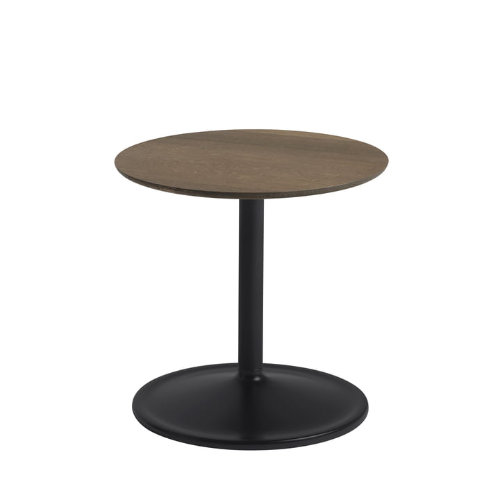 Soft Side table Ø 41 cm, H 40 cm from Muuto in smoked oak / black