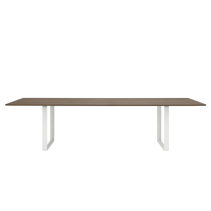 70/70 dining table with the dimensions 295 x 108 cm from Muuto in oak smoked / white