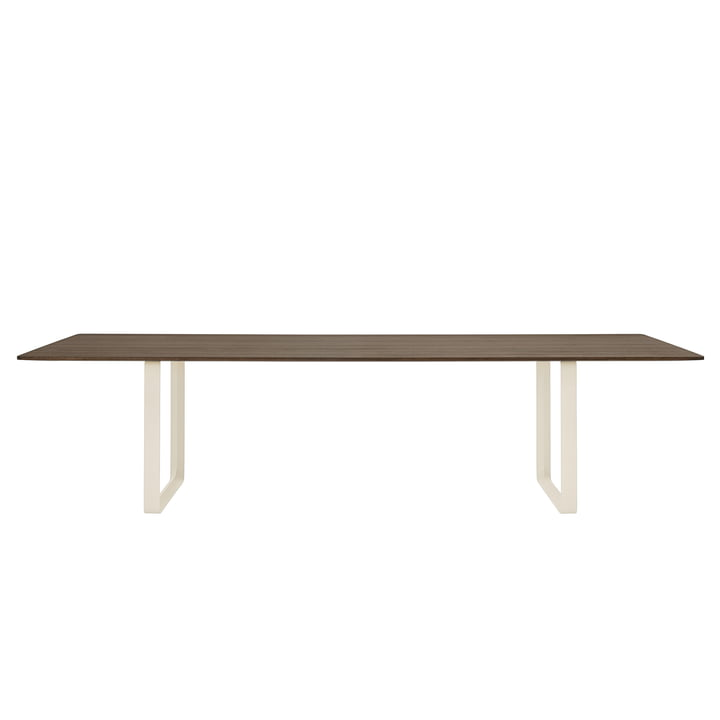 70/70 dining table 295 x 108 cm from Muuto in smoked oak / sand