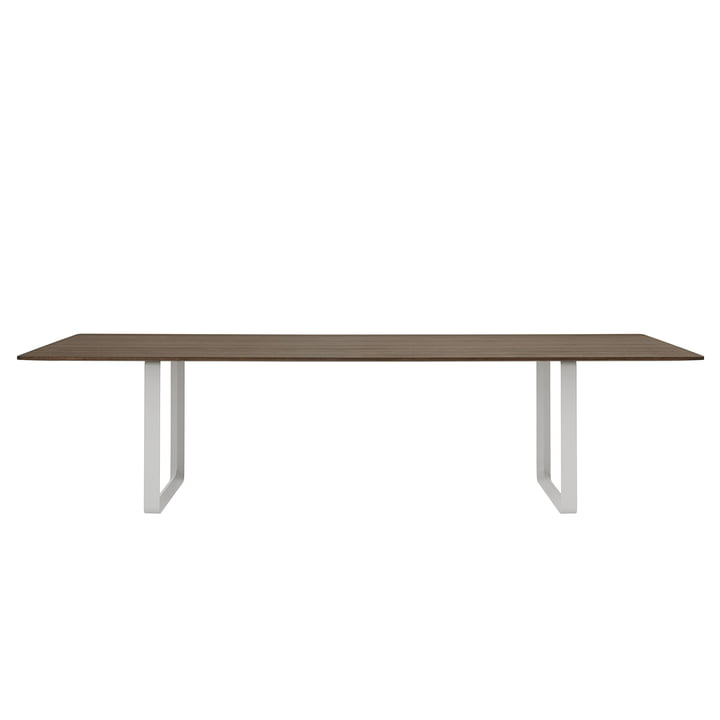 70/70 dining table 295 x 108 cm from Muuto in smoked oak / grey