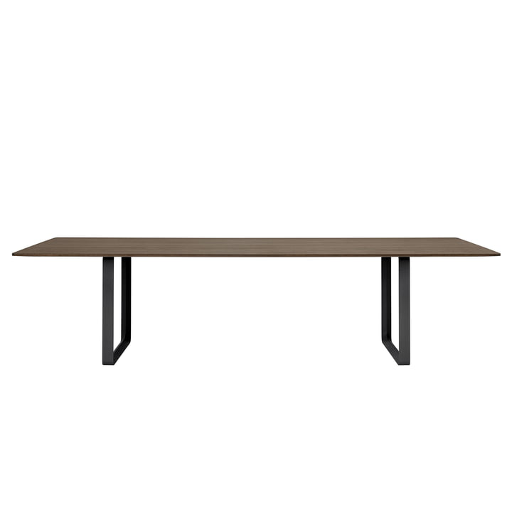 70/70 dining table 295 x 108 cm from Muuto in smoked oak / black