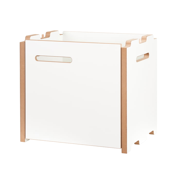 halbstark Shelving system add-on module with door right from Tojo in white