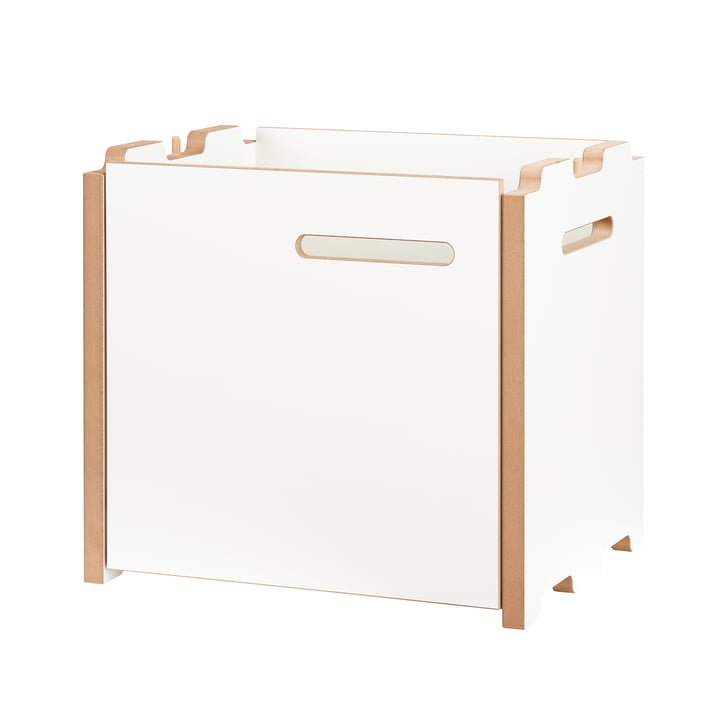 halbstark Shelving system add-on module with door left from Tojo in white.