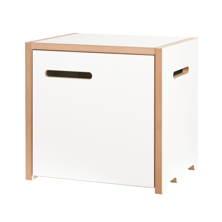 halbstark Shelving system basic module with door right from Tojo in white