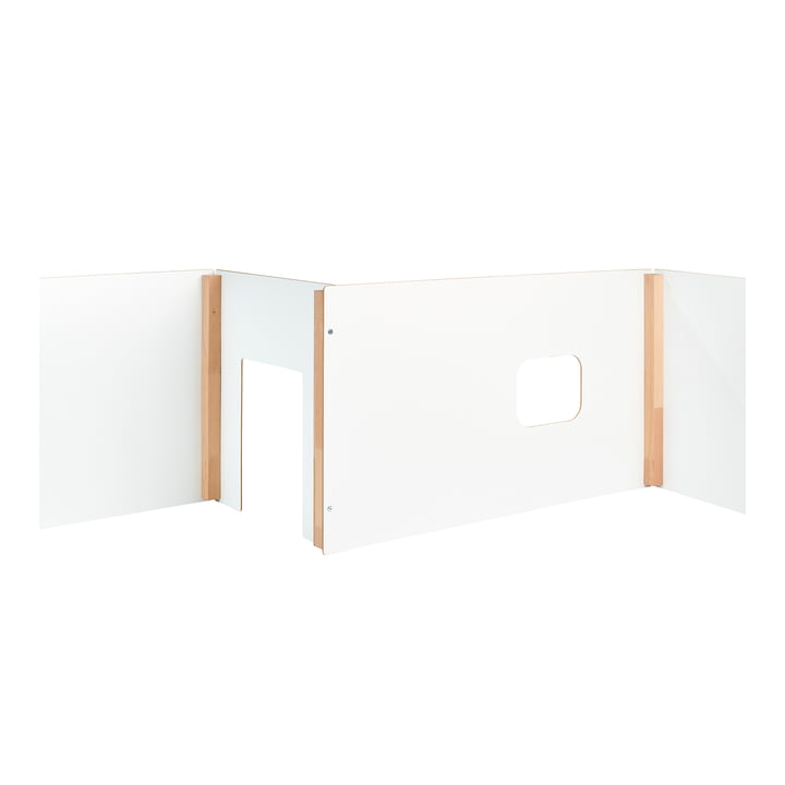 wand Children's playhouse and room divider from Tojo in white/beech