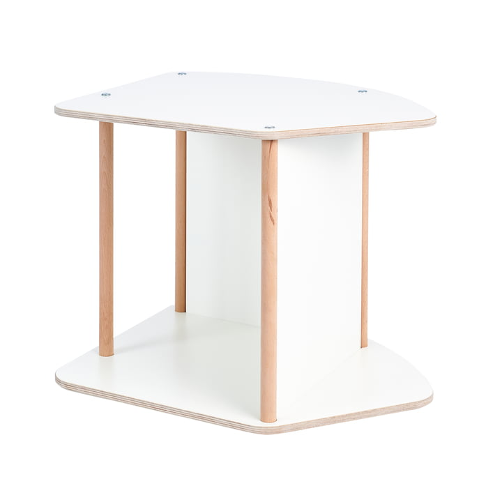 multi Children's table and rocker from Tojo in white/beech
