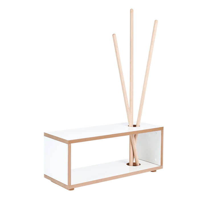 ordnung Children's wardrobe and bench from Tojo in white / beech