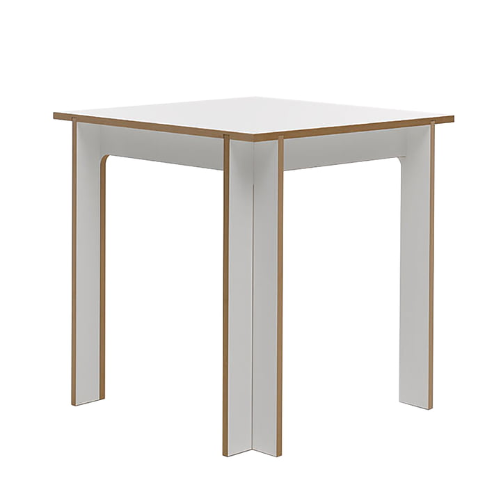 Table 75 x 75 cm from Tojo in white