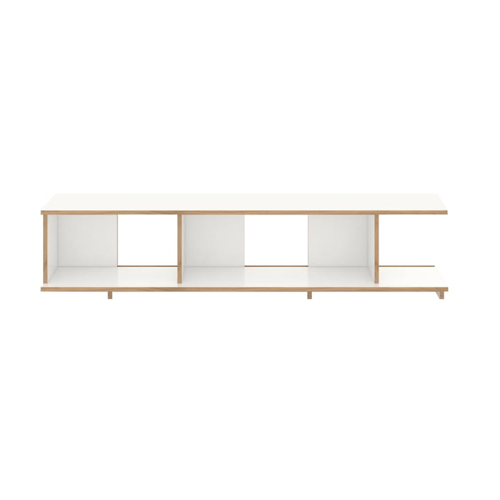 stell Shelving system basic module 198 cm wide from Tojo in white