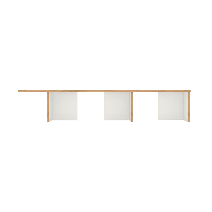 stell Shelving system extension module with the width 198 cm from Tojo in white