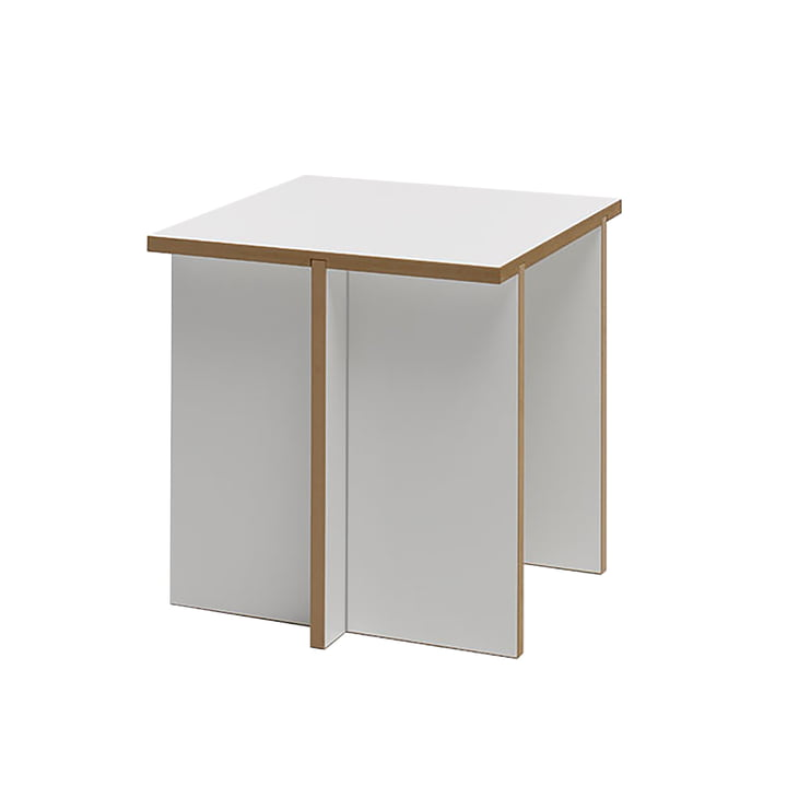 Sturdy stool from Tojo in white