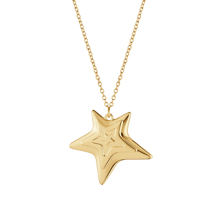 The Ornament Pendant 2021 Five Star from Georg Jensen , gold