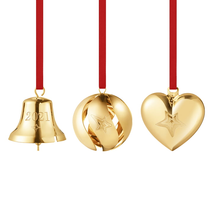 The 2021 gift set (3 pcs.) from Georg Jensen , gold