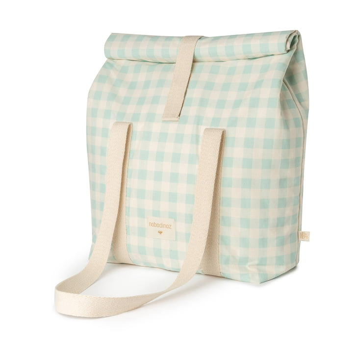 The Sunshine cooler bag from Nobodinoz, opaline vichy