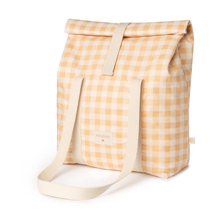The Sunshine cooler bag from Nobodinoz, melon vichy
