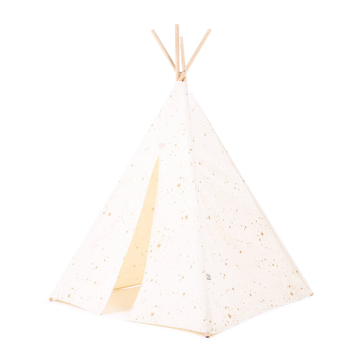 Phoenix Tipi tent from Nobodinoz in gold stella / natural