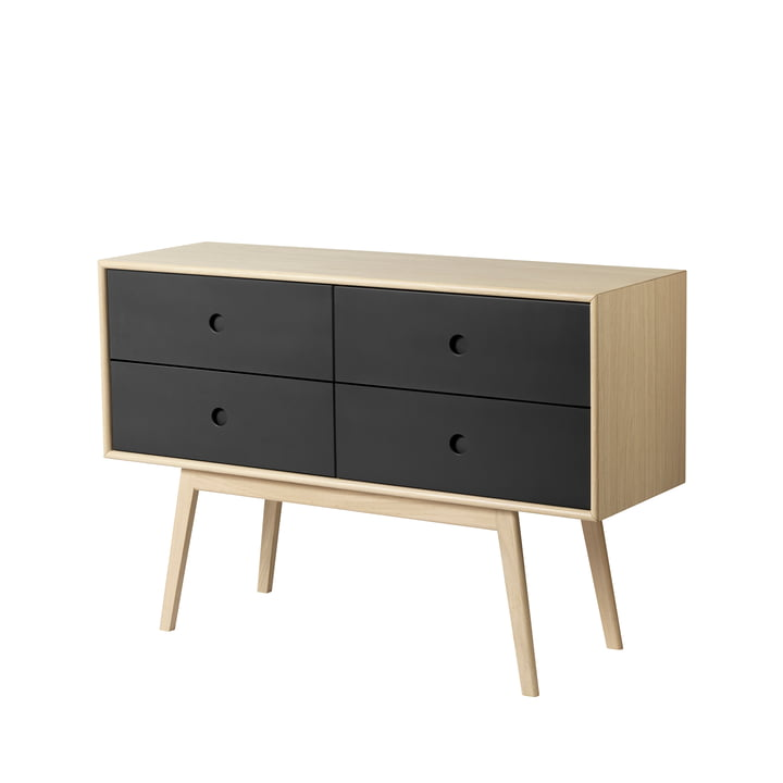 F22 Butler Sideboard from FDB Møbler in oak natural lacquered / black