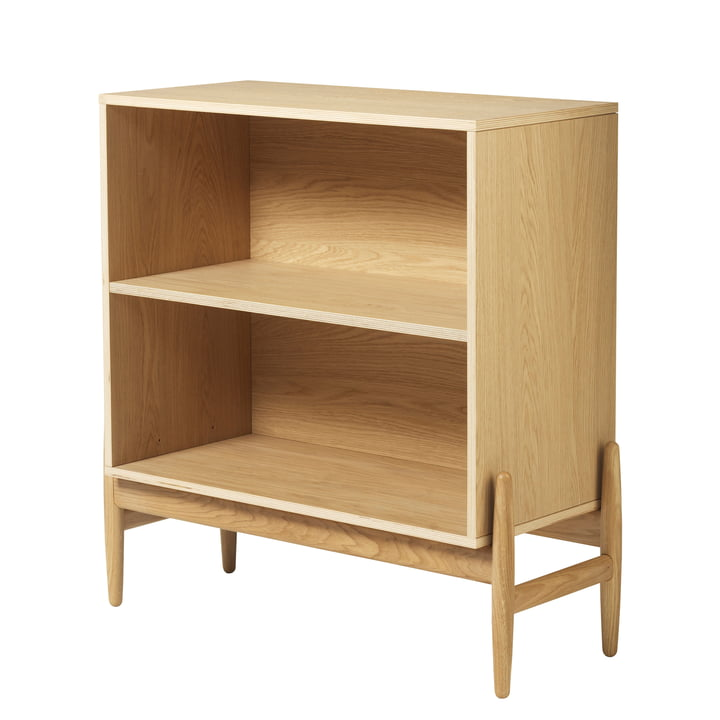 A88 Vig Bookcase low from FDB Møbler in natural lacquered oak