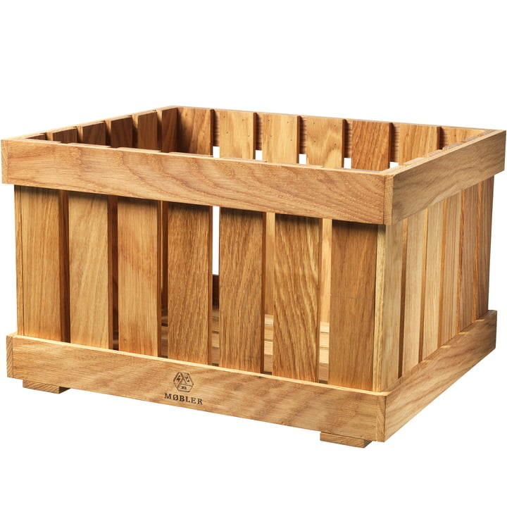 X1 Apple Box Fruit crate Xlarge from FDB Møbler in oak nature