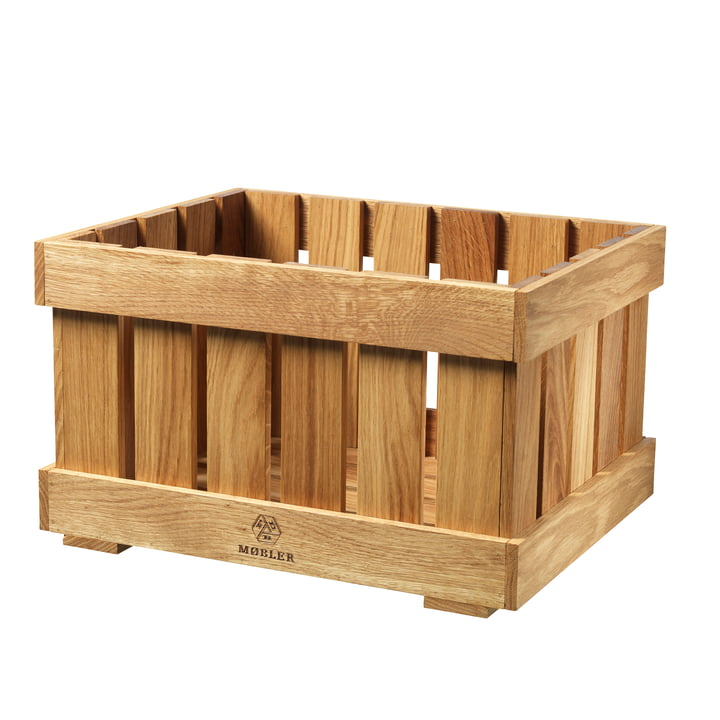 X1 Apple Box Fruit crate large from FDB Møbler in oak nature