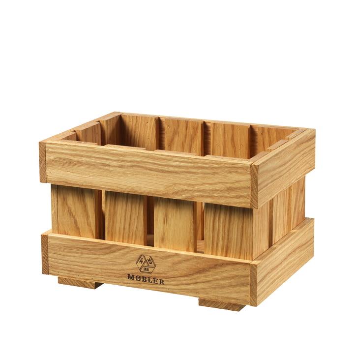 X1 Apple Box Fruit crate medium from FDB Møbler in oak nature