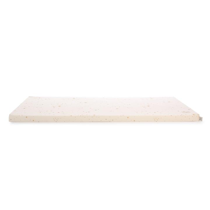 St Barth Play mattress 60 x 120 cm by Nobodinoz in gold stella / natural