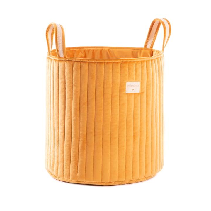 Savanna Storage basket, Ø 35 x H 40 cm by Nobodinoz in farniente yellow