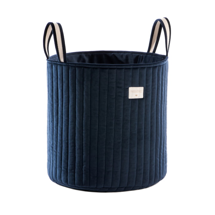 Savanna Storage basket, Ø 35 x H 40 cm by Nobodinoz in night blue