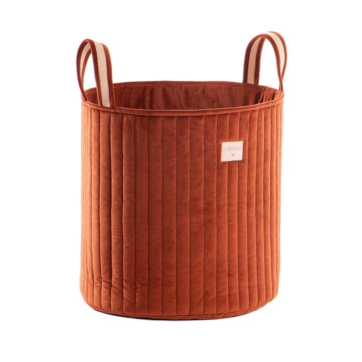 Savanna Storage basket, Ø 35 x H 40 cm by Nobodinoz in wild brown