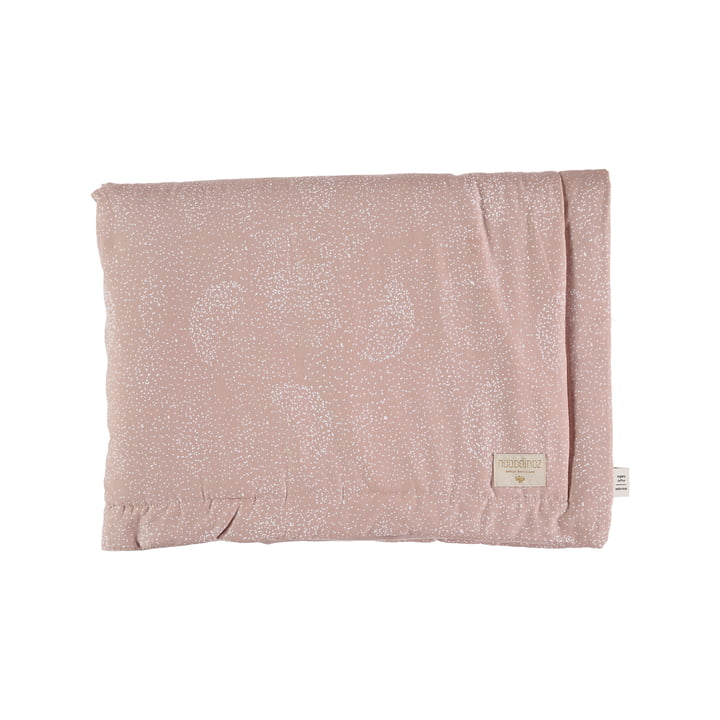 Laponia Kids blanket 100 x 140 cm from Nobodinoz in white bubble / misty pink