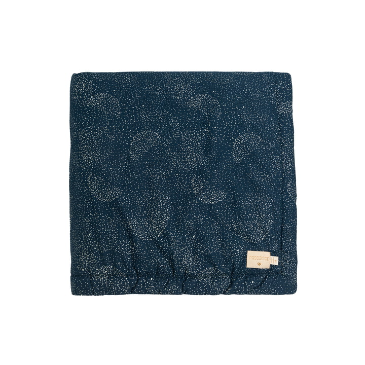 Laponia Kids blanket 100 x 140 cm from Nobodinoz in gold bubble / night blue