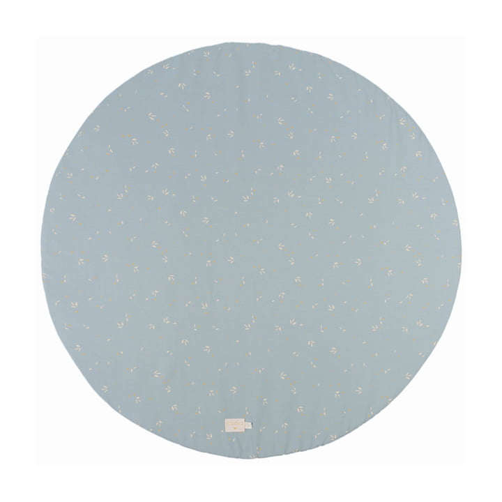 Full Moon Play mat Ø 105 cm from Nobodinoz in willow soft blue