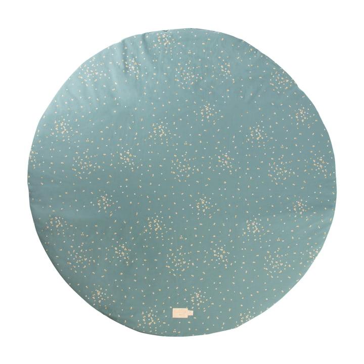 Full Moon Play mat Ø 105 cm by Nobodinoz in gold confetti / magic green