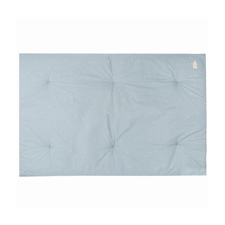 Eden Futon Play mat 100 x 148 cm by Nobodinoz in willow soft blue