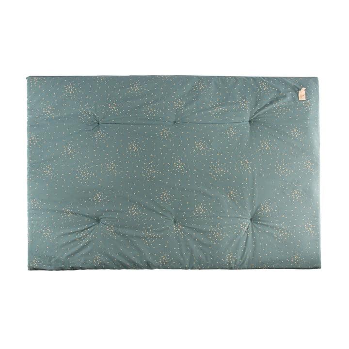 Eden Futon Play mat 100 x 148 cm by Nobodinoz in gold confetti / magic green