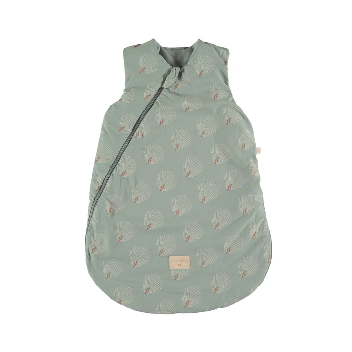Cocoon Baby -Sleeping bag 6-18 months by Nobodinoz in white gatsby / antique green