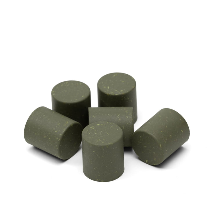 Dots for scoreboard from We Do Wood in the colour natural green (set of 6)