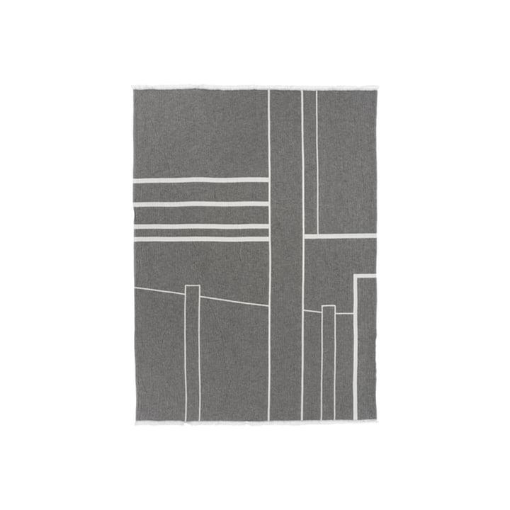 Architecture Blanket 130 x 180 cm from Kristina Dam Studio in off-white / black