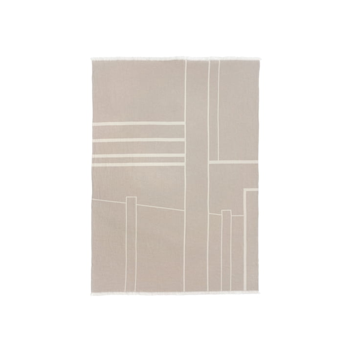 Architecture Blanket 130 x 180 cm from Kristina Dam Studio in off-white / beige